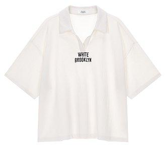 오픈 카라 티셔츠