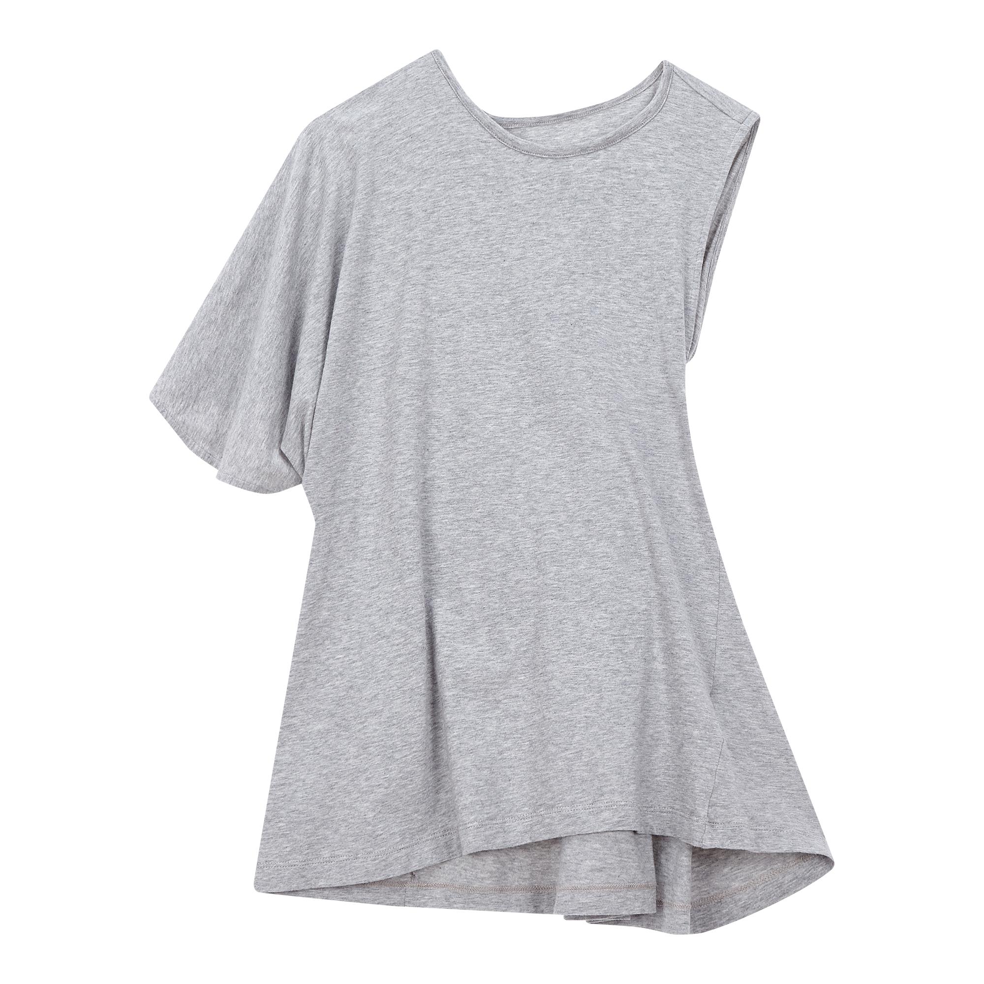 [MM6]언발란스 슬리브 티셔츠