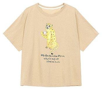 [#GRWG] 애니멀 프린트 박시 티셔츠