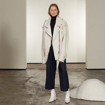 [걸스데이 소진 착용] Van Sleeve Pointed Leather Jacket_Ecru