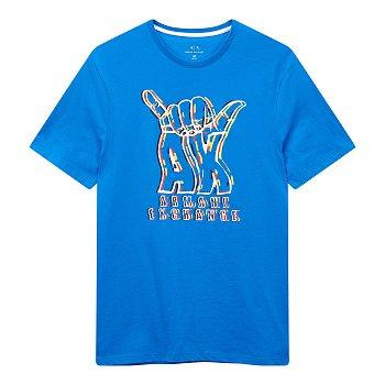 남성 프로미스 로고 그래픽 티셔츠 (BLUE)
