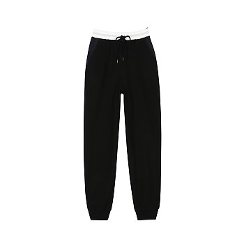 WOOL BANDING PANTS - BLACK
