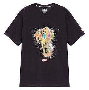 마블 전사 프린트 티셔츠