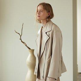 Matisse Lambs Leather Rider Jacket_Ceramique Gray