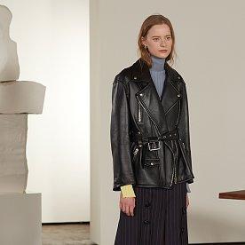 Matisse Lambs Leather Rider Jacket_Zet Black