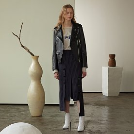 Equilibre Lambs Leather Rider Jacket_Zet Black