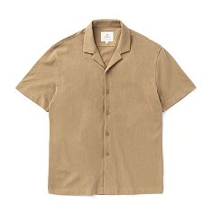 Mesh Cotton Shirt_Beige