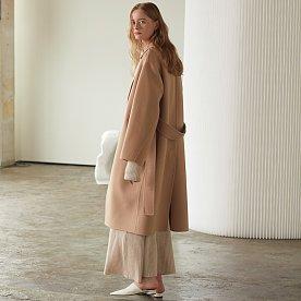 Manet Cashmere Blended Wool Coat_Creamy Camel