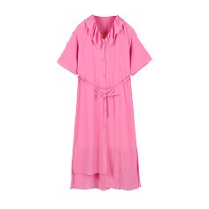RUFFLE COLLAR DRESS - PINK