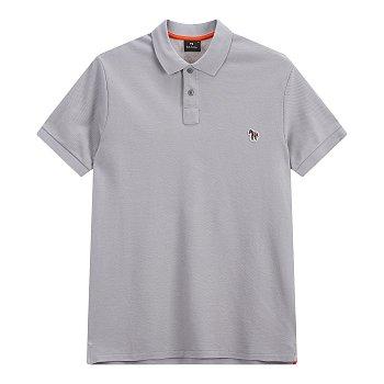 스트라이프 지브라 와펜 하프 피케 셔츠