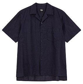 오픈칼라 반팔 셔츠