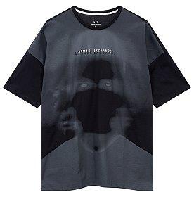 그라데이션 레이어 로고 티셔츠
