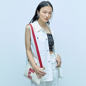 WAKE UP CALL CANVAS BAG-RED