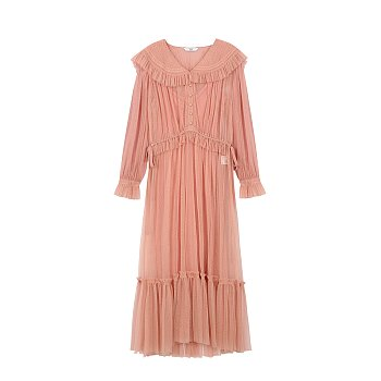 TULLE LONG DRESS - PINK
