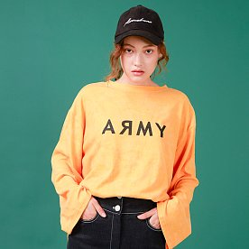 ARMY PRINTED LONG SLEEVE T-SHIRT(YELLOW)