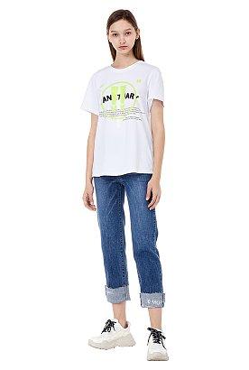 텍스처드 그래픽 반팔 티셔츠