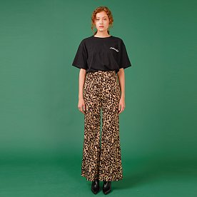 LEOPARD FLARED PANTS