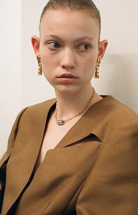 twin movement earrings - gold 트윈 무브먼트  클립 귀걸이 골드색상