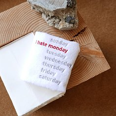 I HATE MONDAY HAND TOWEL