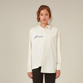 FLEAMADONNA LONG SLEEVE HALF SHIRT(WHITE)
