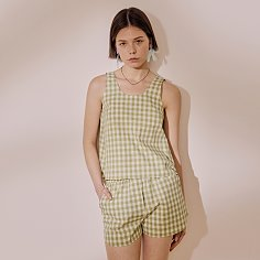 Sunny Side Top_Green Check