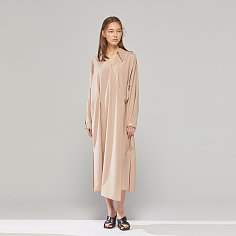 DEMERE LIGHT-WOOL WRAP DRESS (BEIGE)