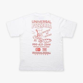UNIVERSAL PIZZERIA T-SHIRT WHITE 유니버셜 오버롤 유니버셜 핏제리아 티셔츠