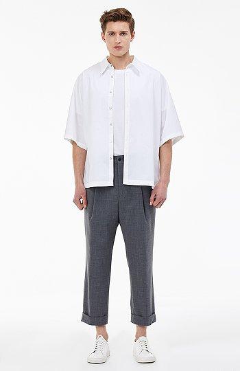 [CHIC] 허리밴딩 울폴리 릴렉스 팬츠