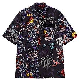플로럴 그래픽 하프 셔츠