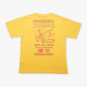UNIVERSAL PIZZERIA T-SHIRT YELLOW 유니버셜 오버롤 유니버셜 핏제리아 티셔츠