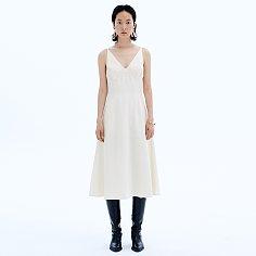 Classy Slip Satin Dress_Cream Ivory