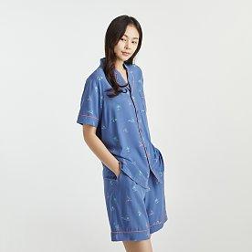UNI 레이온 5부 파자마 상하 세트