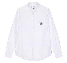 [ICON 콜렉션] 그래픽 패치 포켓 코튼 셔츠