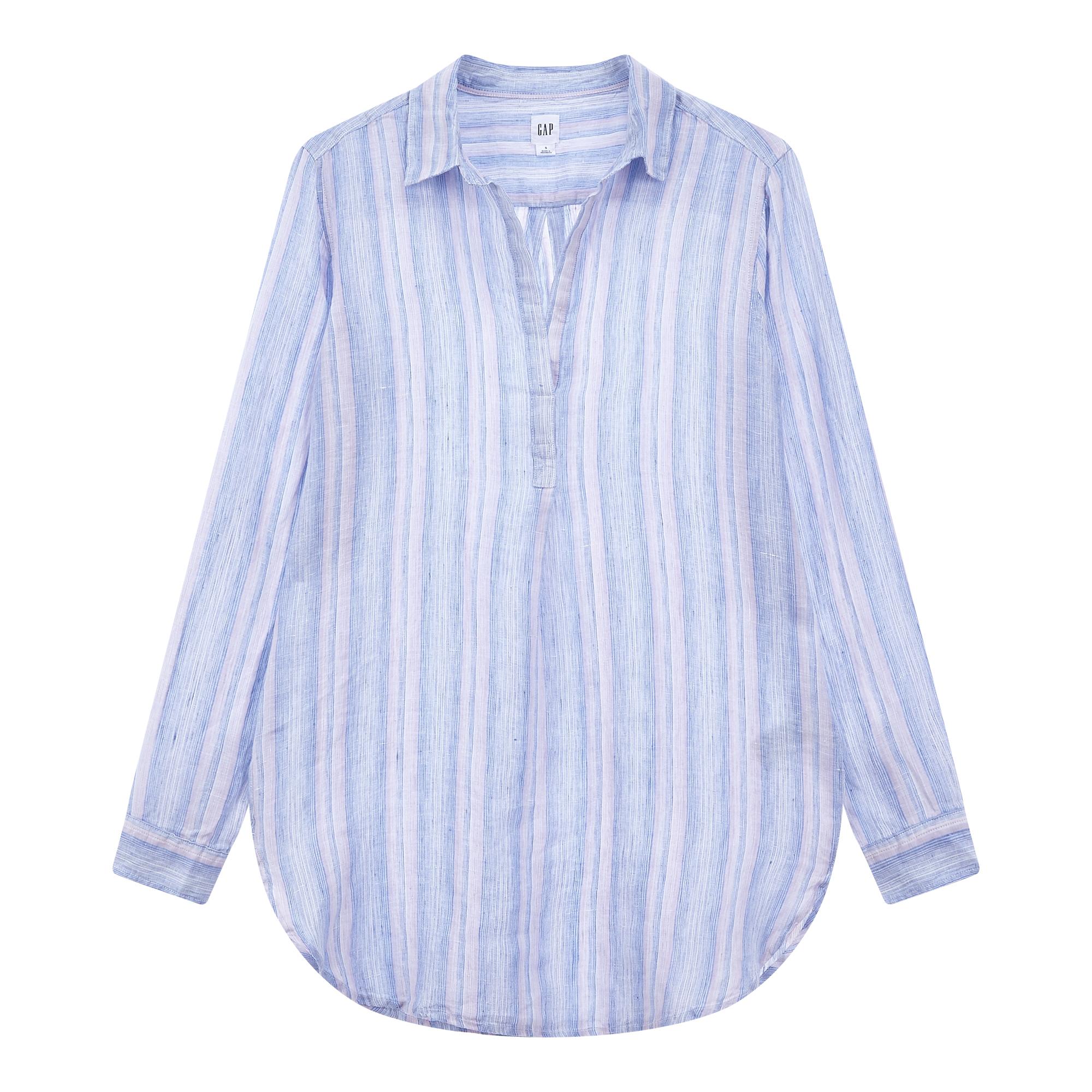 ★갭 여성 19년 SPRING★ 컬러 믹스 스트라이프 린넨 셔츠