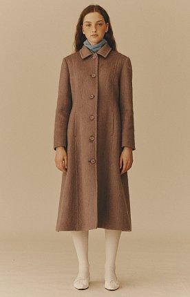 Mohair Blended Coat / Purple
