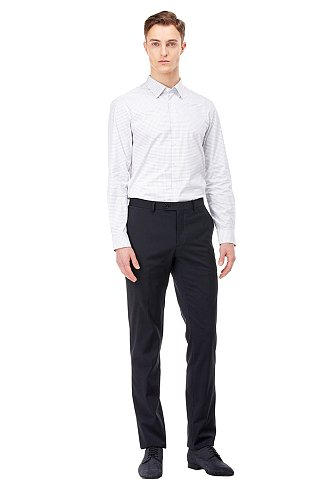 [FORMAL] 스퀘어 체크 스트레치 셔츠