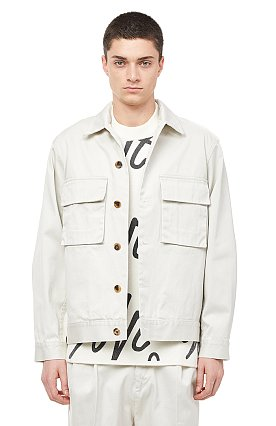★이민기 착용★ [COOL] 아웃포켓 트윌 오픈카라 셔켓
