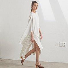 LUUN wide sleeve dress _ white