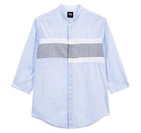 CR 컬러블럭 7부 셔츠