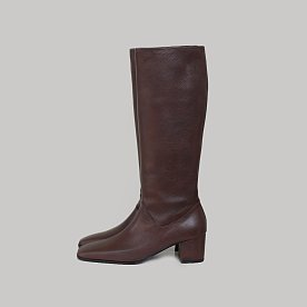 LEATHER TALL BOOTS (BROWN)