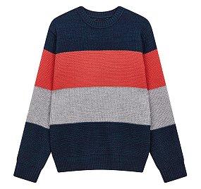 솔리드 컬러블럭 스웨터