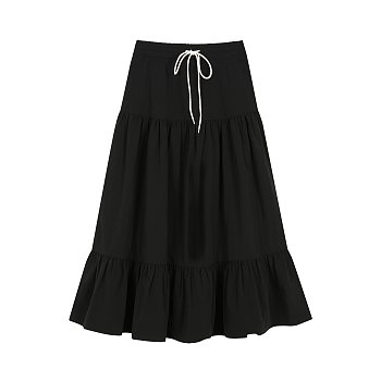 CAN CAN LONG SKIRT - BLACK