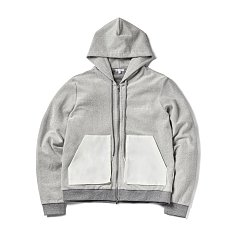 GARY ZIP UP HOOD-GREY