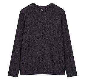 에센셜 크루넥 긴팔 티셔츠