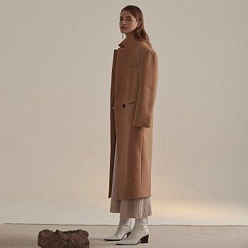 [김설희 착용] Roi Cashmere Blend Oversized Long Coat_Camel