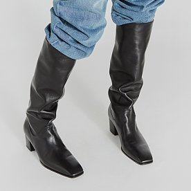 LEATHER TALL BOOTS (BLACK)