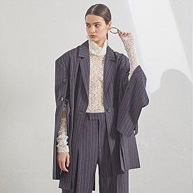 [10.25 예약배송][임수향,김연아.배윤영 착용] Daphne Sleeve Pointed Jacket _ Stripe