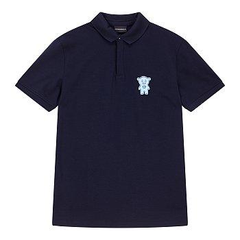 벨크로 장식 카라 티셔츠