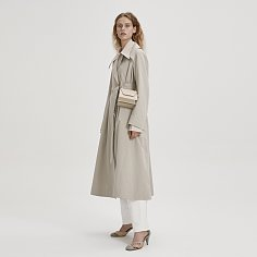 BELTED MAC TRENCH COAT (MINT GREY)