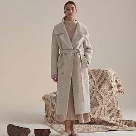 Daian Alpaca Blend Wool Coat_Melan Ivory